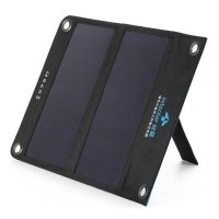 Фото Солнечная панель с аккумулятором для зарядки телефонов