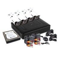 Купить Комплект PROconnect, 4 наружные камеры AHD-M, с HDD 1Tб в