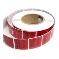 Купить РЧ этикетки для замороженных продуктов, 40х40 мм, красная в