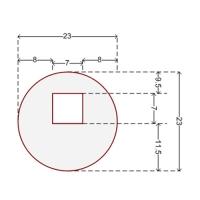 Купить Наклейка для датчика систем защиты на стеллажах 23 мм (круглая) в