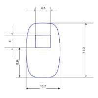 Купить Наклейка для датчика систем защиты на стеллажах 11x17 мм в