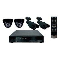 Купить комплект видеонаблюдения СТК-UI04- 2 внутренние камеры 2 наружные камеры (без жесткого диска) в