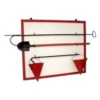 Купить Щит пожарный с комплектацией (лом, багор, лопата, 2 ведра) в
