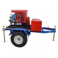 Купить Мотопомпа пожарная «Гейзер» МП-20/100 П на прицепе с увеличенным клиренсом в
