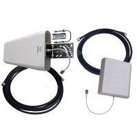 Купить Комплект антенн 800-2700МГц (GSM, DCS, WiFi, 3G, LTE, антенны 2 шт и кабель 5 и 10м) в