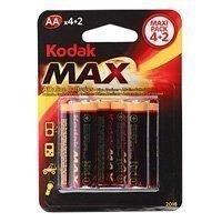 Купить Kodak MAX LR6-4+2BL  [20 KAA-4+2 ] (6/120/12960) в