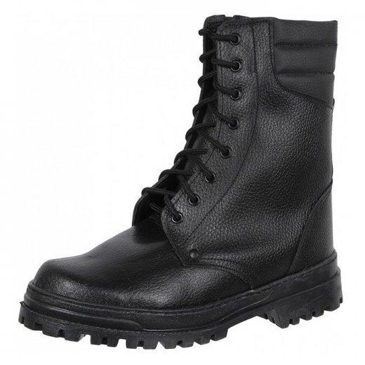 Фото Ботинки ОМОН хром с натуральным мехом