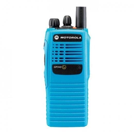 Фото Рация Motorola GP340 ATEX - версия в голубом корпусе