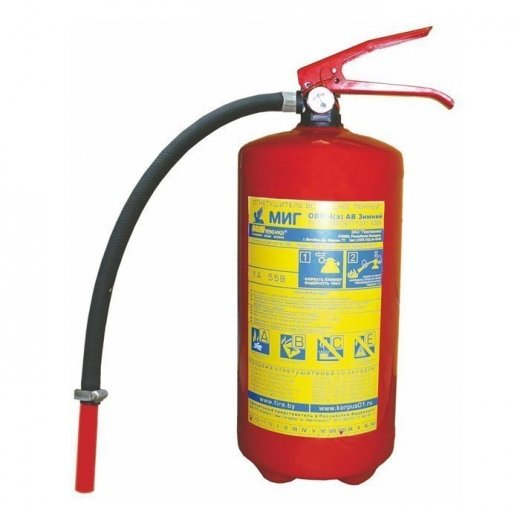 Фото Воздушно-пенный огнетушитель ОВП-4 морозостойкий