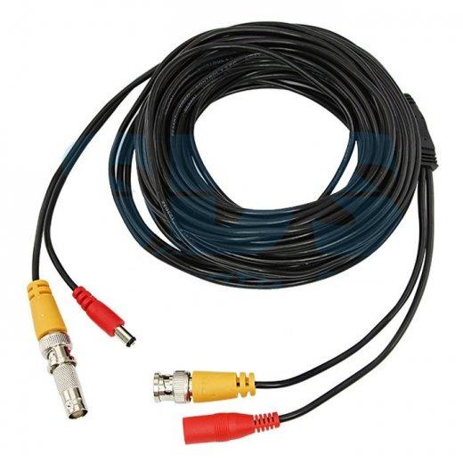 Фото Соединительный кабель подключения для систем видеонаблюдения (BNC+питание) 60М