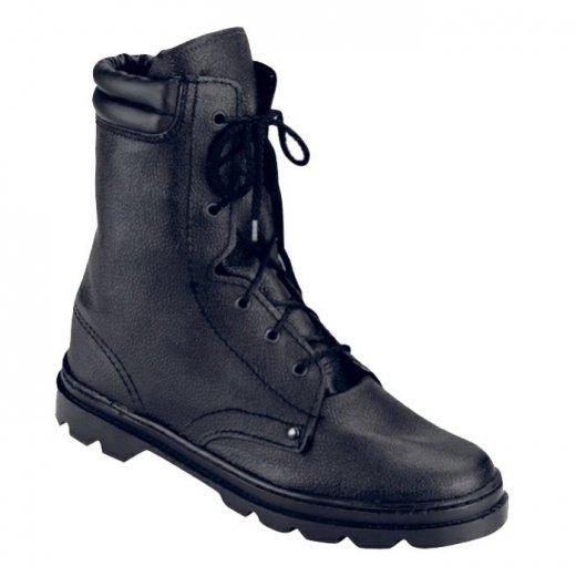 Фото Ботинки ОМОН юфтевые с искусственным мехом