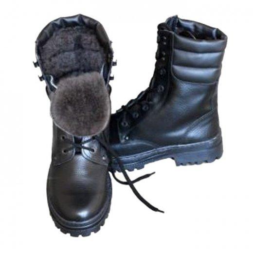 Фото Ботинки ОМОН хром (натуральная шерсть)