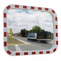 Фото Зеркало дорожное со световозвращающей окантовкой прямоугольное 600х800 мм