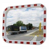 Фото Зеркало дорожное со световозвращающей окантовкой прямоугольное 400х600 мм