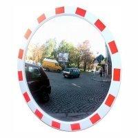 Фото Сферическое зеркало дорожное со световозвращающей окантовкой Ø900 мм