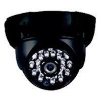 Фото Rexant муляж внутренней купольной камеры видеонаблюдения с вращающимся объективом и мигающим красным светодиодом
