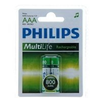 Фото Philips HR03-2BL 800 mAh [R03B2A80/10] (2/24/15552)